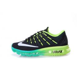 Nike Air Max 2016 черные с зеленым